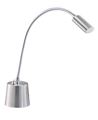 Adesso Eternity Gooseneck Desk Lamp, Satin Steel