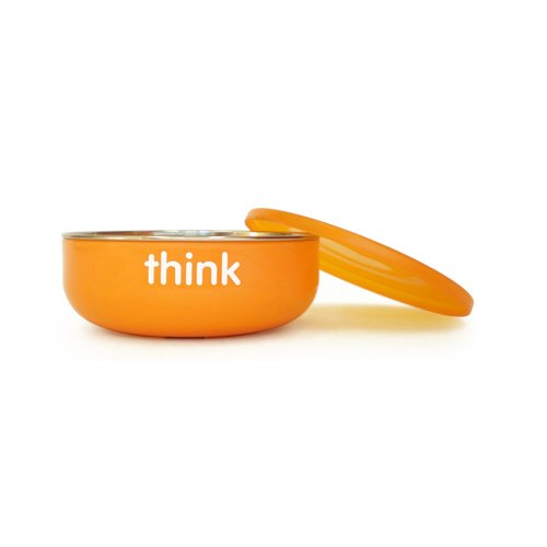 Thinkbaby Bpa Free Orange Low Wall Baby Bowl