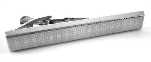 Chaps Ralph Lauren Silver Plaid Tie Bar Clip