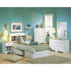 Cheap Kids Bedroom Furniture Set in Pure White/Maple – South Shore Furniture – 3263-BSET-1 (3263-BSET-1)