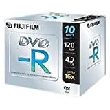 Fuji DVD-R 4.7GB 16x DVD-Rohlinge 10er Pack Jewel Case