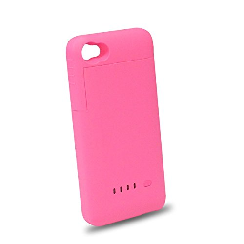 Generic 1900Mah External Battery Case Portable Charger+4 Led Power Indicator For Iphone 4/4S (Pink)