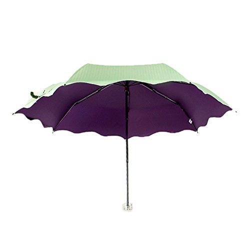 migobi folding flouncing 42 inch sun rain compact umbrella upf50 anti uv parasol light green. Black Bedroom Furniture Sets. Home Design Ideas