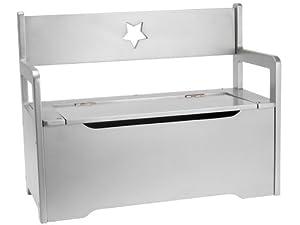 kinderbank sitzbank holz wei mit viel stauraum f r spielzeug k che haushalt. Black Bedroom Furniture Sets. Home Design Ideas
