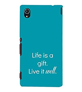 EPICCASE Live is a gift Mobile Back Case Cover For Sony Xperia M4 Aqua Dual (Designer Case)