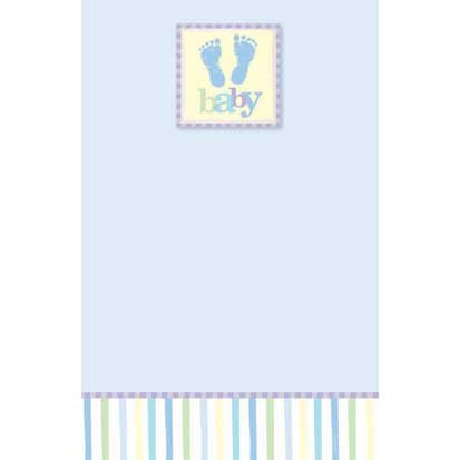 Baby Blue Imprintable Invitations 25ct