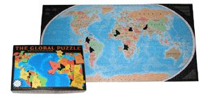 Cheap A Broader View THE GLOBAL PUZZLE 600 Pieces Build the Puzzle and Learn The World (078343183X)