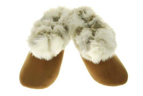 Image of Style & Co. Bootie Slippers Faux Fur Trim, Brown (B004WLEFI6)