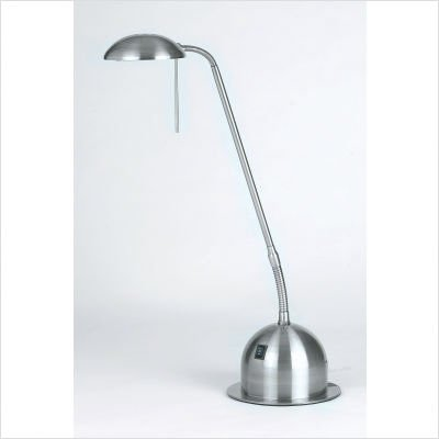 Reading Table Lamp in Satin Chrome