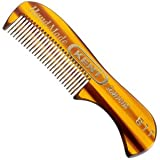 Kent The Handmade Comb - 73 mm Fine Toothed Moustache and Beard Comb Model No. 81T