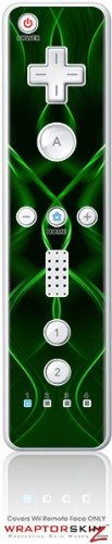 Wii Remote Controller Skin - Abstract 01 Green by WraptorSkinzTM