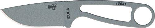 Esee Zula Fixed Blade Knife, 2.75In, Drop Point, Skeletonized Handle Izula-Spc