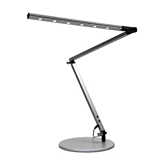 Koncept Z-Bar High Power Adjustable LED Desk Lamp Warm White Illumination - Silver