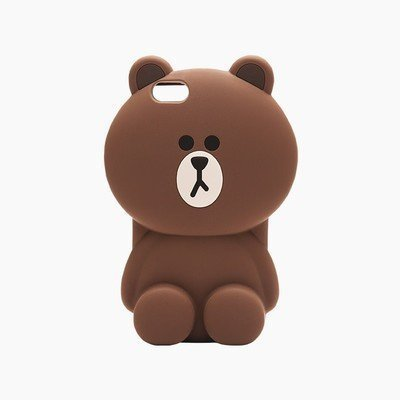 CHOCOCASE Ultra Thick Drop Resistant Silicone Back Case for Apple [iPhone 6 Plus] / [iPhone 6s Plus] Cute and Protective Huge Big 3D Cartoon Design (Brown Bear) (Iphone 6 Case Bear compare prices)