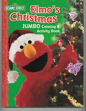 Sesame Street Elmo's Christmas Jumbo Coloring and Activity Book - 1