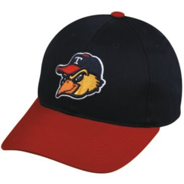 "MiLB Minor League ADULT TOLEDO MUD HENS Red/Navy Hat Cap Adjustable Velcro TWILL ""Tigers Affiliate"" New at Amazon.com"