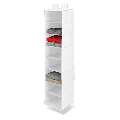 Honey-Can-Do SFT-01239 8-Shelf Hanging Organizer, White