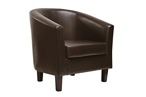 Sessel-Clubsessel-Lounge-Cocktailsessel-aus-Kunstleder-klassisches-Design-in-4-Farben-BRAUN