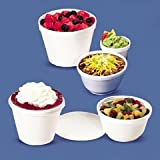 Dart 16MJ20 16-Ounce Capacity 4.2 Inch Top and 2.7 Inch Bottom Diameter 4.1 Inch Height Squat Food Foam Container 25-Pack (Case of 20)