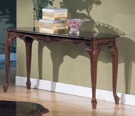 Cheap Console Table in Cherry Finish by Poundex (F6008)