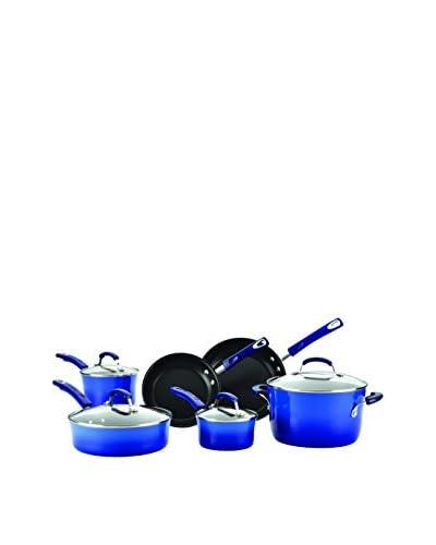 Rachael Ray Porcelain Blue 10-Piece Non-Stick Cookware Set