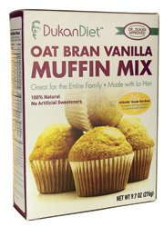 Dukan Diet Oat Bran Muffin Mix, Vanilla, 9.7 Ounce