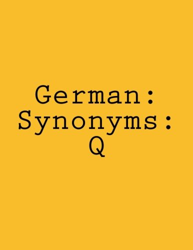 German Synonyms: Q (German Edition) PDF