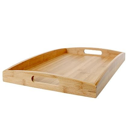 Fatto a mano, elegante, rielaborata secondo, design resistente in bambù di qualità, versatili Vassoio in legno, 50 x W32,5 x H5 cm)