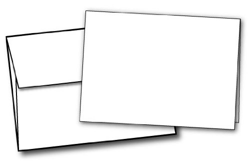 Blank Greeting Cards and Envelopes