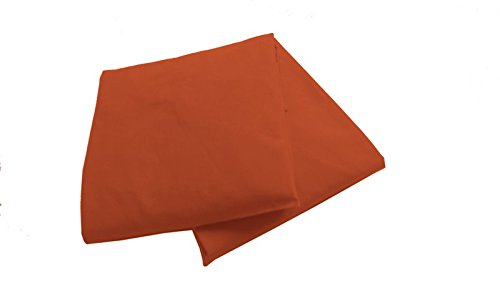 Baby Doll 2 Piece Solid Crib Sheet Set, Orange - 1