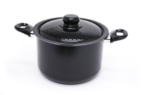 Starfrit 034171 Everyday Basix Stock Pot with Perforated Locking Lid, 6.0-Quart