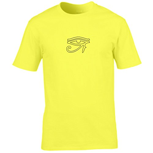 S Tees -  T-shirt - Collo a U  - Maniche corte - Uomo Yellow XX-Large
