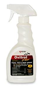 Ovitrol Plus Flea, Tick and Bot Spray for Pets, 16-Ounce