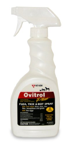 Vet-Kem Ovitrol Plus Flea, Tick and Bot Spray for Pets, 16-Ounce