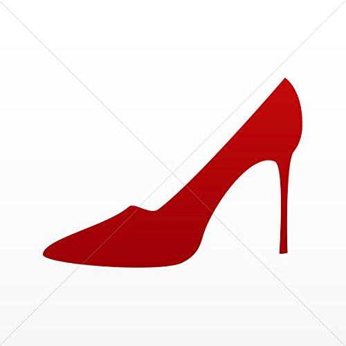 Decals Decal High Heel Women Shoe Tablet Laptops Weatherproof Sports Red Dark (7 X 5.11 In)