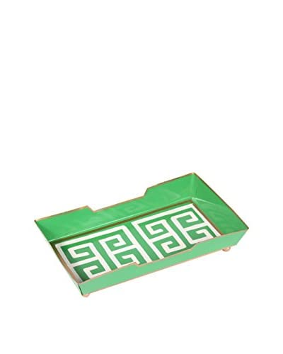 Jayes Greek Key Guest Towel Tray, Green