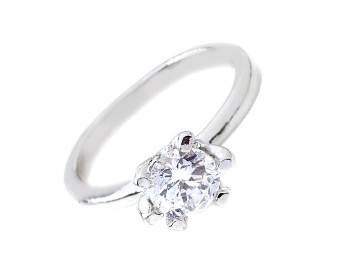 New Clear Crystal Bridal Wedding Engagement Ring Size 7