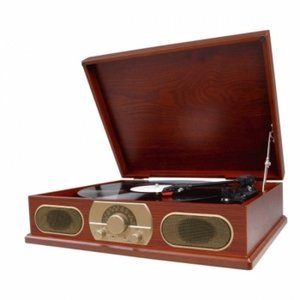Studebaker SB6052 Wooden Turntable with AM/FM Radio & Cassette Player люстра colosseo 82406 4c oscar