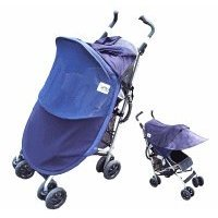Protect-A-Bub Deluxe Single Stroller/ Jogger Sunshade Attachment Navy front-213666