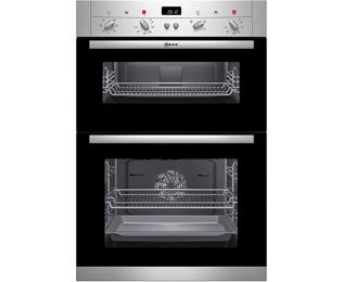Neff Classic Collection 2 U12S52N3GB Built In Double Oven - Stainless Steel. It Will Perfeclty Look Great Built Into Your Kitchen