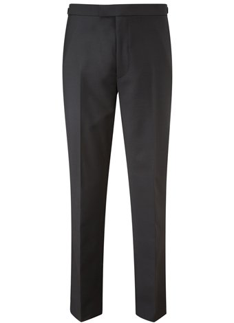 Austin Reed Contemporary Fit Black Pleat Trousers REGULAR MENS 32