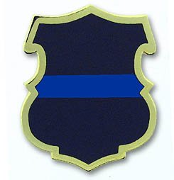 Thin Blue Line Police Shield Pin Package of 12