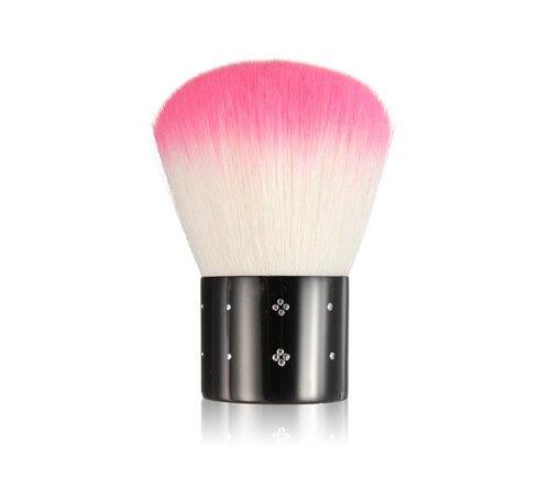 niceeshop(TM) Mini Strasssteine Kosmetik Nagel Art Staubfilter Gesichtsbürste, Rosa und Weiß