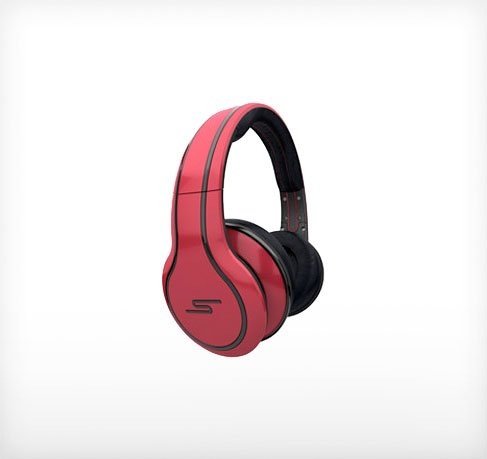 SMS STREET by 50 Cent Headphones  (Red)