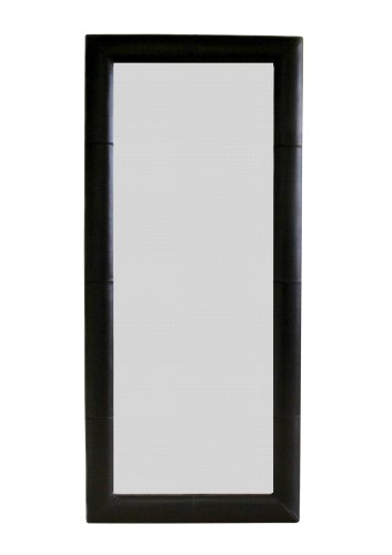 Cheap baxton furniture studios leather framed floor for Cheap floor mirrors