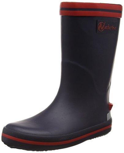 NaturinoNATURINO RAIN BOOT. - Stivali foderati a mezza gamba, contro il freddo Unisex - Bambini , Blu (Blau (GOMMA BLEU-ROSSO)), 22