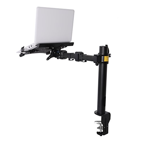 FLEXIMOUNTS 2 in 1 D1L Desk Laptop Stand Mounts Fits up to 15.6