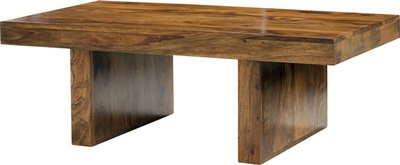 SHEESHAM (ROSEWOOD) CHUNKY COFFEE TABLE HARDWOOD INDIAN FURNITURE