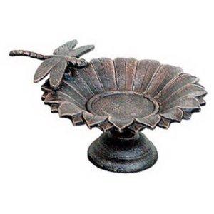 Cheap Midas-Lin C325-62 Cast Iron Dragonfly/Petal Tabletop Birdbath (C325-62)