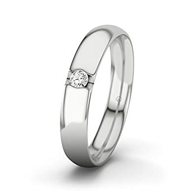 21DIAMONDS Women's Ring Renate 0.5 ct Brilliant Cut Diamond Engagement Ring, 9ct White Gold Engagement Ring
